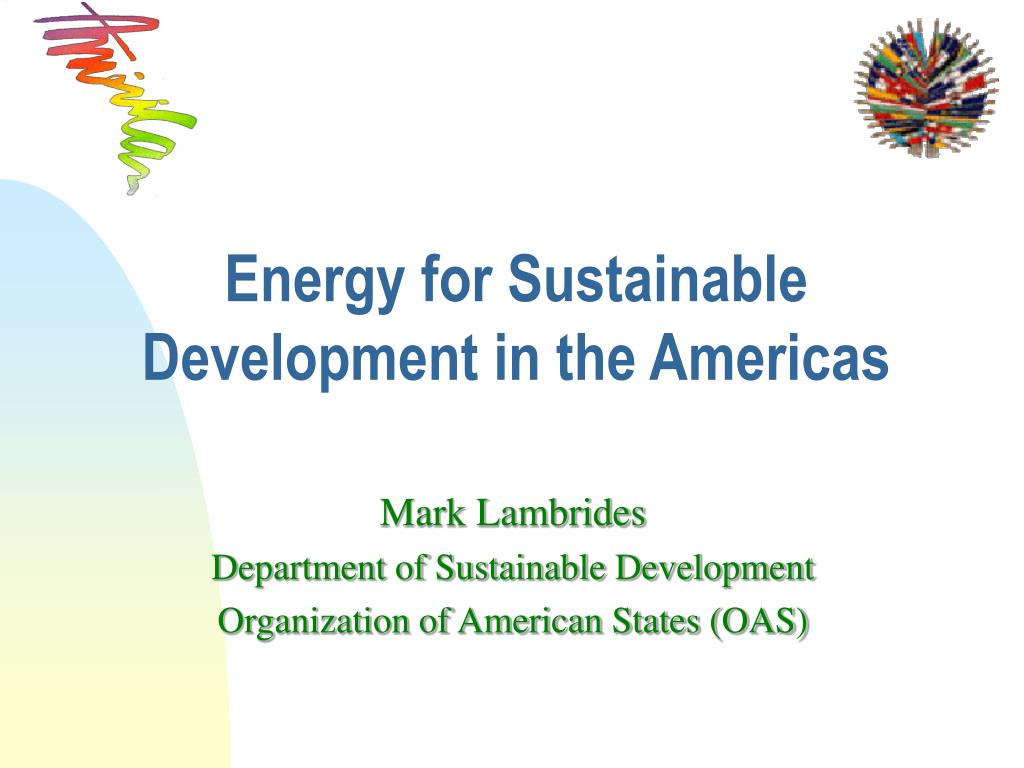 energy for sustainable development in the americas l.
