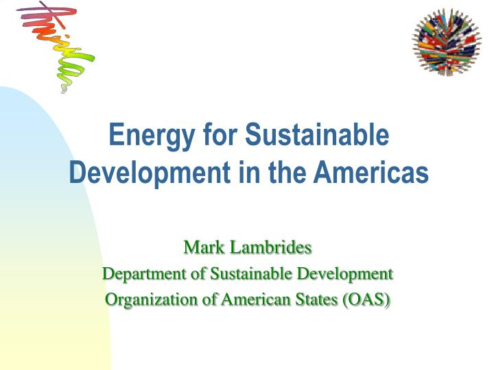 energy for sustainable development in the americas n.