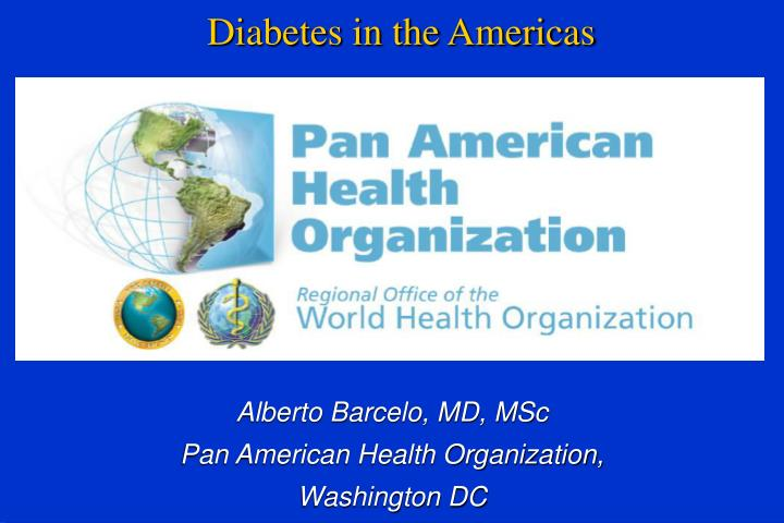 diabetes in the americas n.
