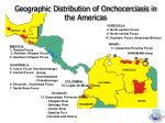 geographic distribution of onchocerciasis in the americas