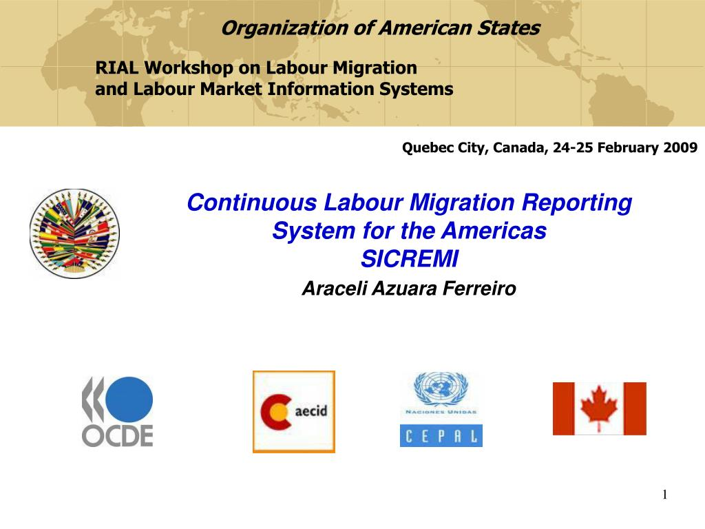 continuous labour migration reporting system for the americas sicremi araceli azuara ferreiro l.