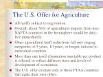 the u s offer for agriculture