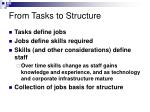 from tasks to structure