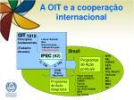 a oit e a coopera o internacional