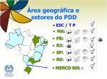 rea geogr fica e setores do pdd