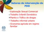 setores de interven o do pdd