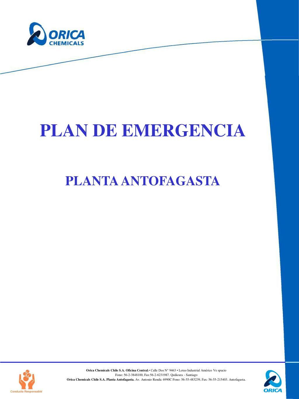 plan de emergencia planta antofagasta l.