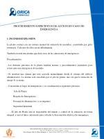 procedimiento especificos de accion en caso de emergencia