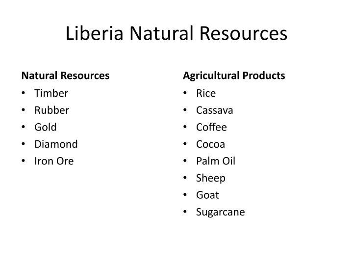 Liberia Natural Resources