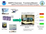 awips overview functions mission awips is the critical link to the nws forecaster