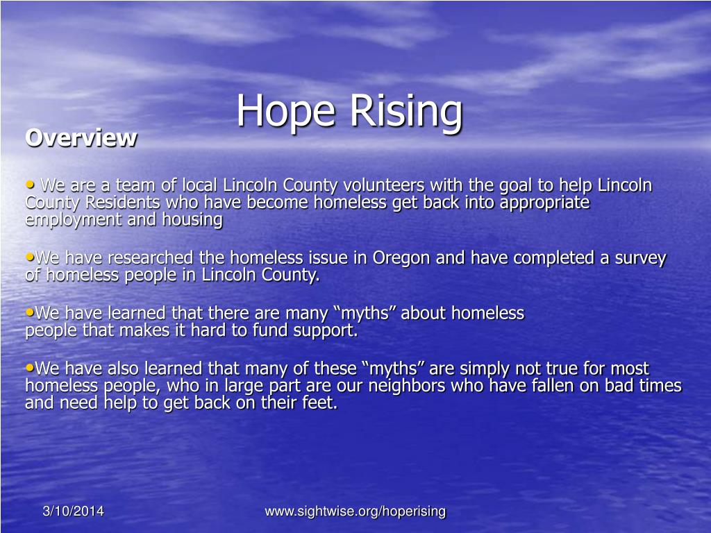 hope rising l.
