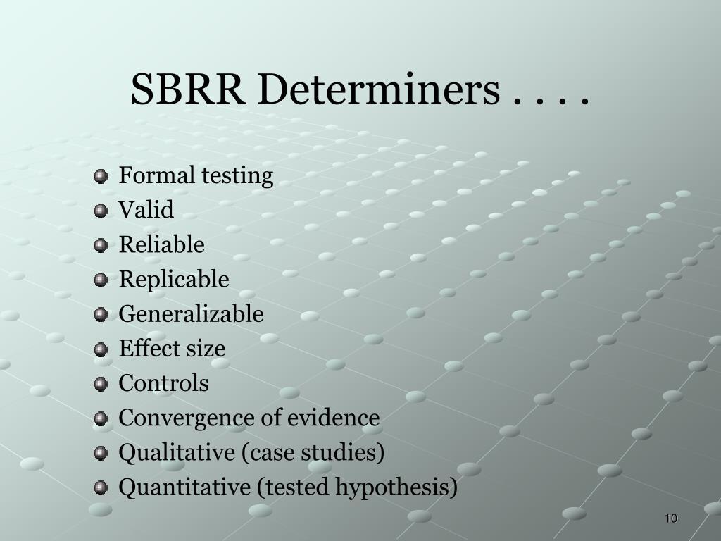 SBRR Determiners . . . .