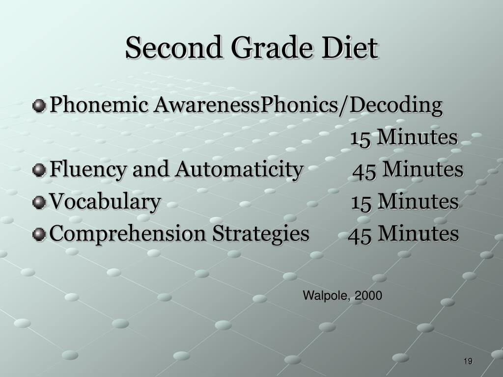 Second Grade Diet
