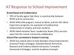 a7 response to school improvement
