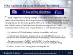 fda approves updated warfarin prescribing