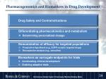 pharmacogenomics and biomarkers in drug development