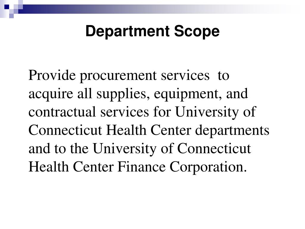 Department Scope