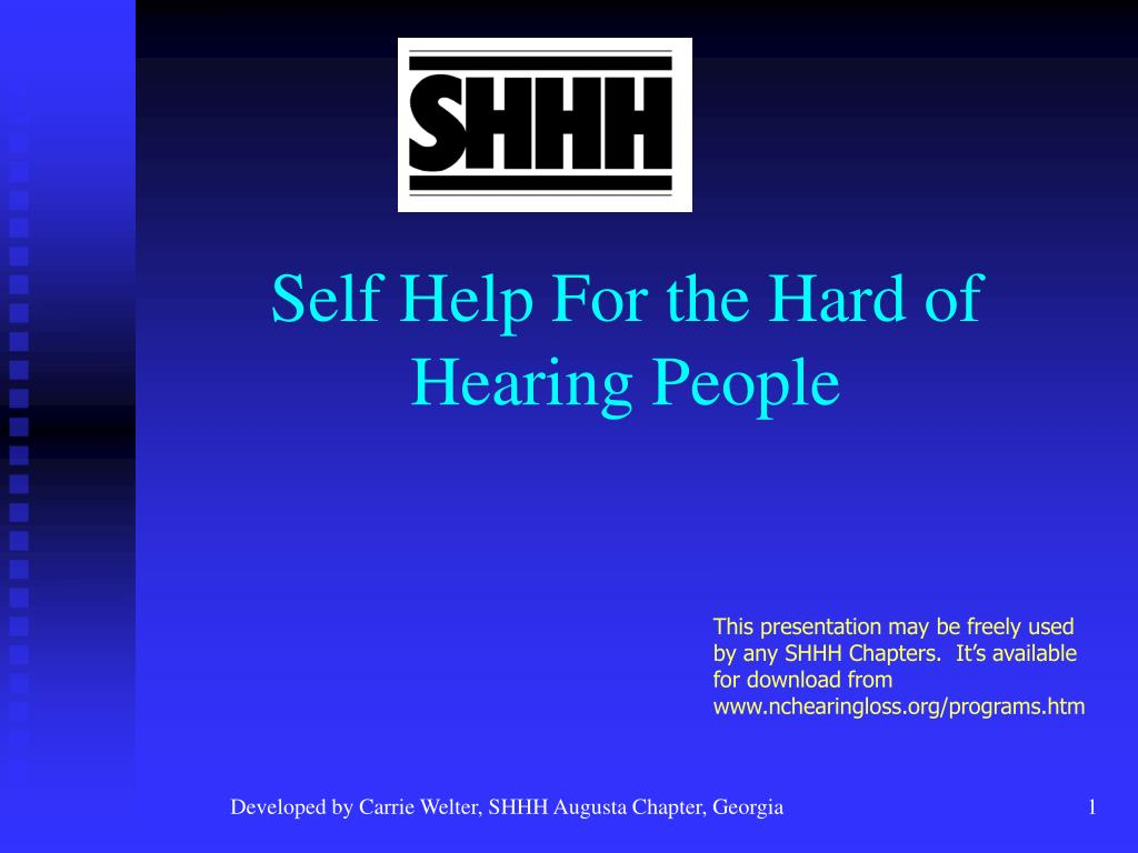 self help for the hard of hearing people l.