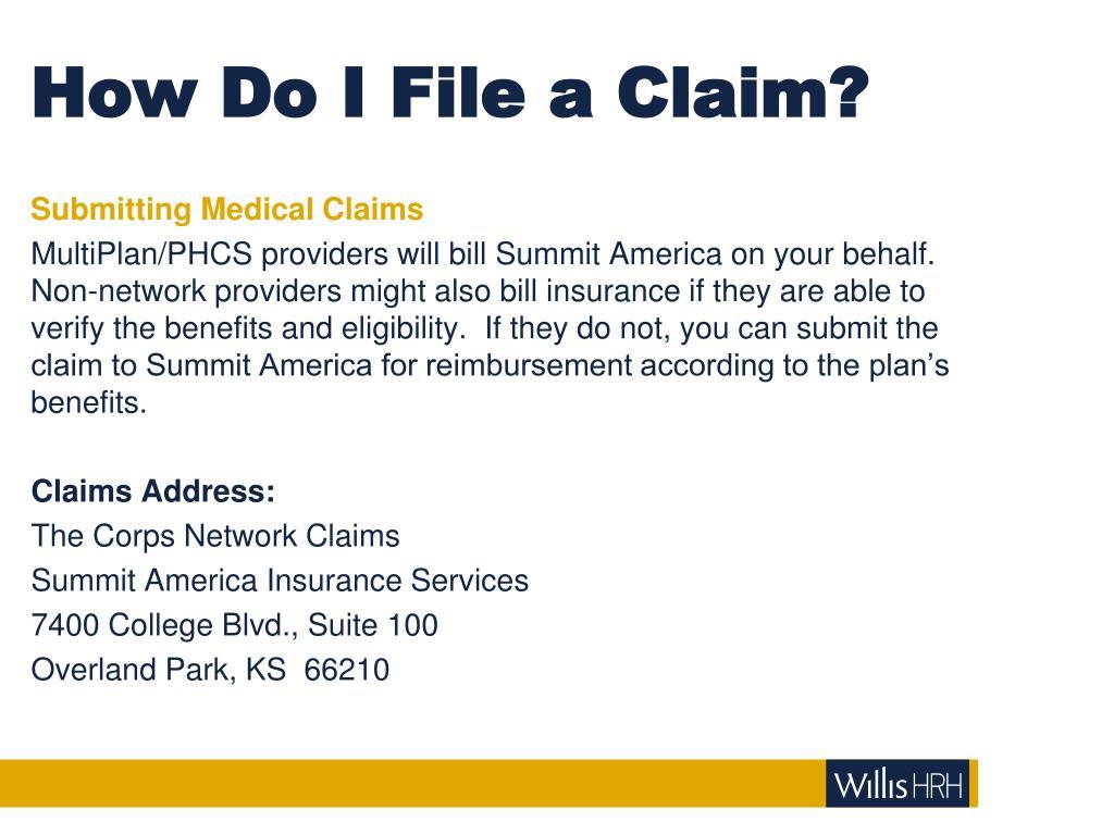 How Do I File a Claim?