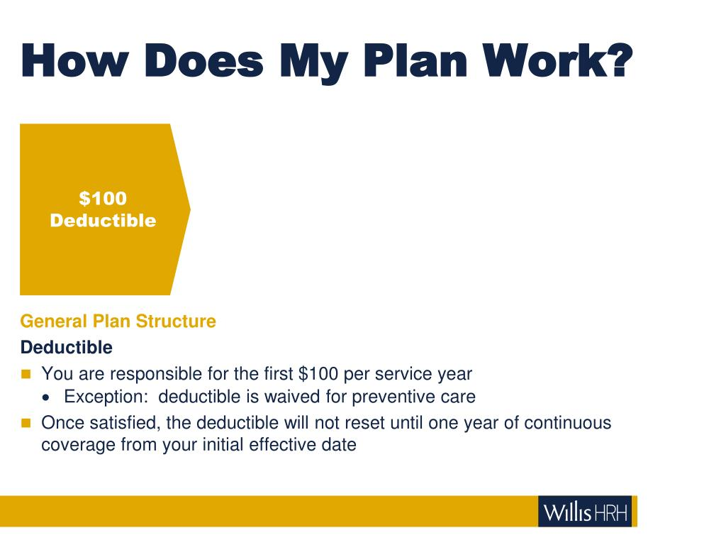 How Does My Plan Work?