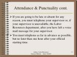 attendance punctuality cont
