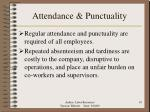 attendance punctuality