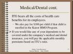 medical dental cont