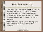 time reporting cont
