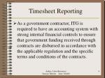 timesheet reporting
