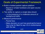 goals of experimental framework