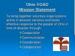 ohio voad mission statement