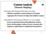 content analysis thematic mapping