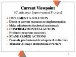 current viewpoint continuous improvement process32
