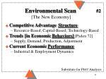 environmental scan the new economy