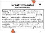 formative evaluation risk assessment tool