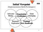 initial viewpoint implementation skills techniques