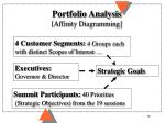 portfolio analysis affinity diagramming
