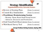 strategy identification organized delivered by university partners