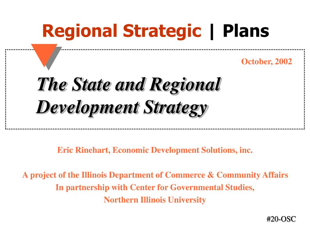the state and regional development strategy l.