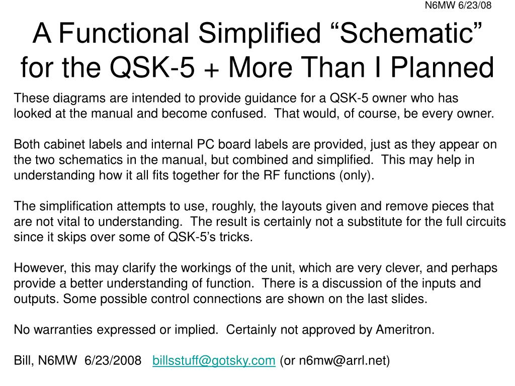 a functional simplified schematic for the qsk 5 more than i planned l.