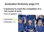 graduation dictionary page 319