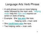 language arts verb phrase