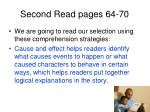 second read pages 64 70