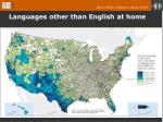 languages other than english at home