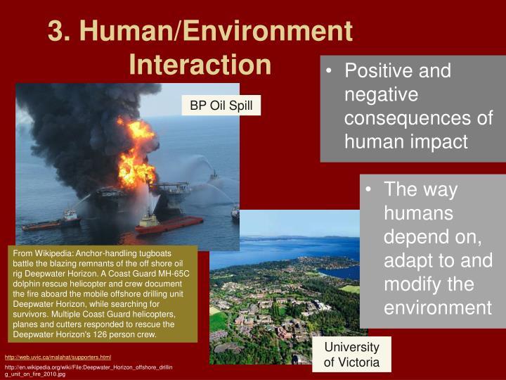 negative human environment interaction