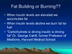 fat building or burning