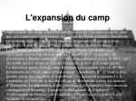 l expansion du camp