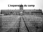 l expansion du camp19
