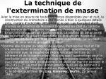 la technique de l extermination de masse30