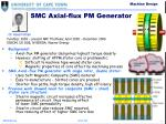 smc axial flux pm generator